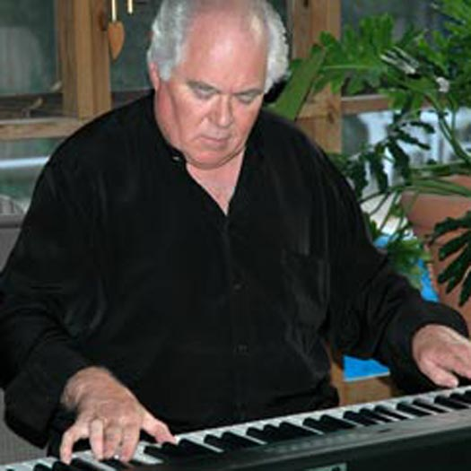 Jim playing the piano
